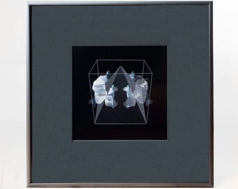 Mixed Media Digital Painting Photograph Framed Art