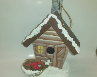 Wooden Log Cabin ornament