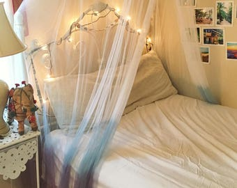 Hand made dip-dyed bed canopy!