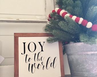 JOY to the World wood sign, Christmas sign, Farmhouse decor