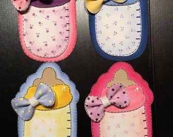 Beautiful baby shower souvenir-foam (pack of 10) Baby bottle