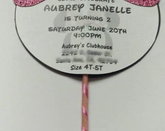 Minnie Mouse inspired Invitations