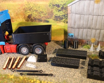 1:50 scale lorry code 3 parts, Heavy Haulage Ballast Box Kit1