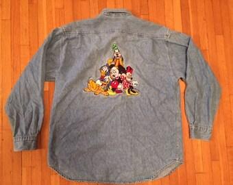 Vintage Disney denim shirt