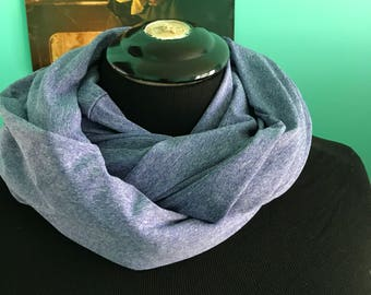 Periwinle blue athletic inifinity scarf