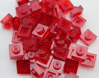 LEGO® Mosaic Pieces 1x1 (x50) - RedTranslucent