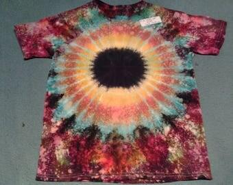 "tie dye t shirt youth medium""milky way"""