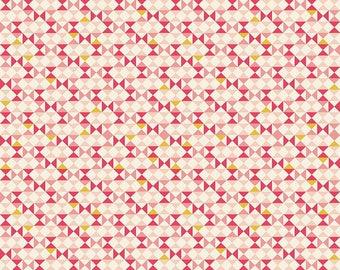 Riley Blake Vintage Banner Cream Fabric C5564 - PINK