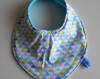 """Blue triangle"" bandana bib"