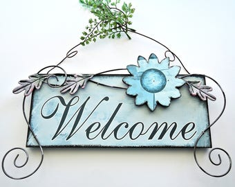 Warm Welcome Sign Cross Stitch Pattern