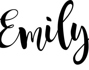 Name decal - personalized sticker - Name sticker - custom vinyl decal - Name decal vinyl - monogram stickers - laptop name - decal phone