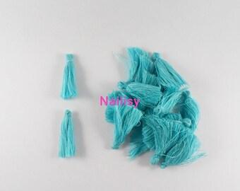 Set of 20 tassels turquoise REF2414 3cm