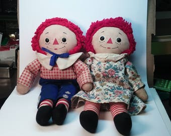 Vintage Raggedy Ann And Andy By Knickerbocker With ABC Book