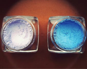 2in1 Combo Violet Blue Eyeshadow/Mineral Eyeshadow/Vegan Eyeshadow/Chemical Free Eyeshadow/Botanical Makeup/Pure Mineral Makeup/Minerals