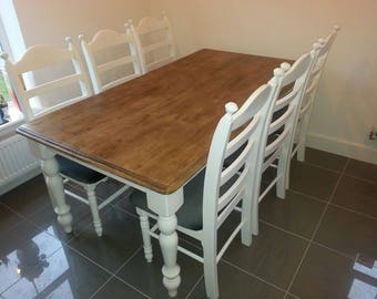 Stunning Shabby chic 6ft Table and chairs