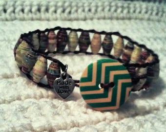 Handcrafted Paper Bead Bracelet