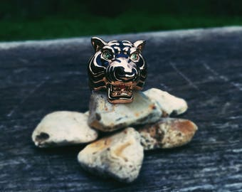 Diego Tiger Ring Mens gift