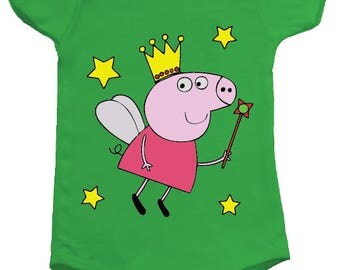 Peppa Pig Fairy BodySuit Onesie - available in many sizes and colours for newborns, babies and toddlers