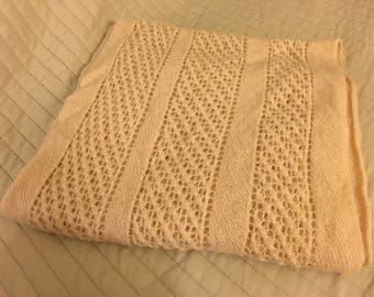 Hand knit mohair scarf
