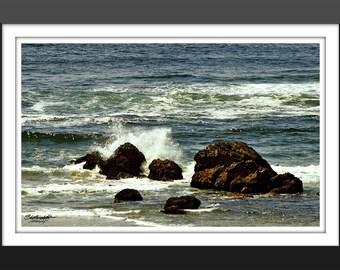 Crashing Waves - fine art, fine art photography, Landscape, nature, ocean, Oregon, Oregon Coast, waves, surf, rocks