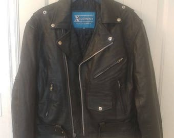 Leather Jacket Mens Size 44 - XElement by U.S.A. Leather Genuine Leather Jacket