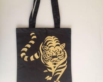 Tiger Canvas Shopping Bag