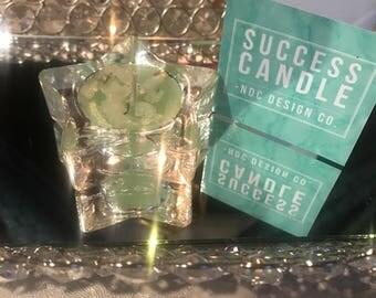 Success Glass Meditation Tealight Candle