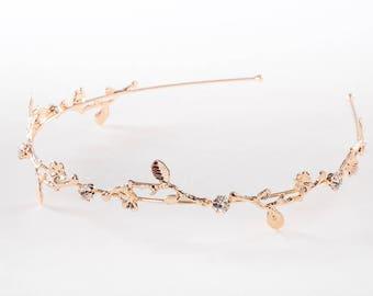 Grecian style Headband,Rose gold headband,Bridal headband,Game of thrones hair accessories,wedding headband,bridal headband,Ornate headband