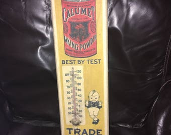 Vintage Calumet Baking Powder Thermometer