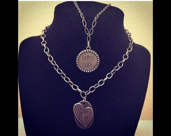 Customizable Gypsy Soul, or Wild at Heart necklace