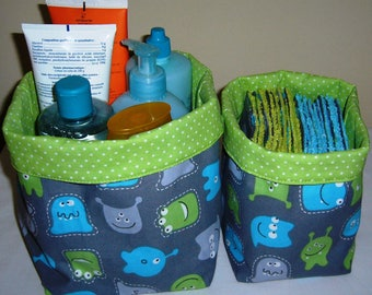 set of 2 baskets monsters