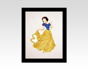 Snow White inspired Princess Snow White sparkles print
