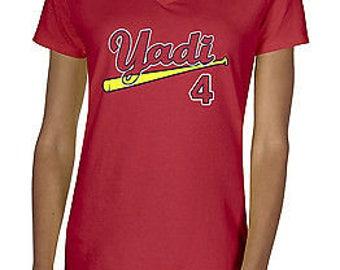 Yadier Molina Ladies V Neck Shirt Cardinals