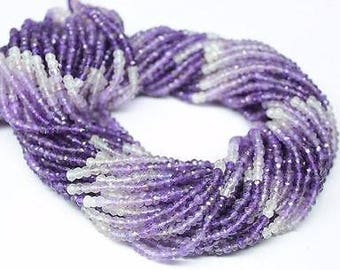 Natural Amethyst Shaded Rondelle Faceted Beads Strand 3 mm 14 Inch Strand Amethyst Beads Gemstone Beads Amethyst Rondelles