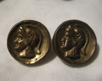 Two Small Vintage  Roman Buttons