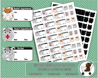 appointment reminder printable stickers/doctor stickers/dentist appointment/flu shot reminder/planner stickers/medical reminders