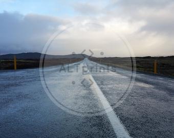 Iceland Print // Icelandic Road // Mjoanes