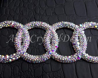 PROMO!!! Audi Boot Badge Emblem Covered With Crystals Swarovski