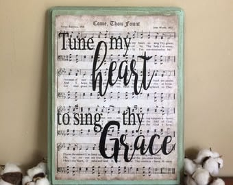 Christian Gifts for Women, Come Thou Fount, Christian Gifts, Women Gifts, Come Thou Fount Sign, Christian Women Gifts, Hymn Wall Art