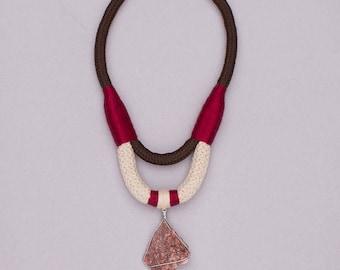 Burgundy Red Jasper Necklace - Egregora