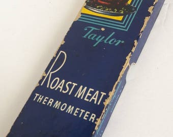 Vintage Taylor Roast Meat Thermometer / Retro Kitchen Decor / In Box / Working Condition
