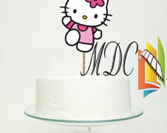 Hello Kitty Cake topper Centerpiece Birthday Customized Individual or Package Printable  (PDF) Invitation  T shirt Design and more Disney