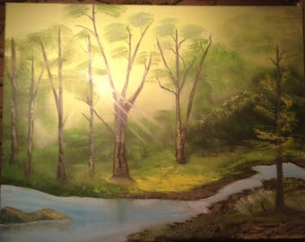 Let the light shine through oil painting