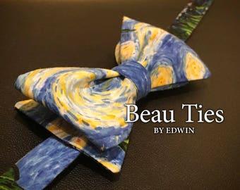 Starry, Starry Night  Self Tie Bow Tie. Art Lover. Vincent Van Gogh.