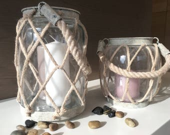 Crystal candle holders and rope