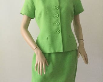 Christian Dior Green Skirt Suit size 10 P