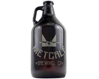 Custom Monogram 64 oz Craft Beer Growler