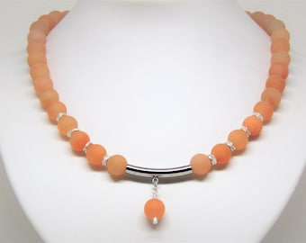 Necklace orange aventurine
