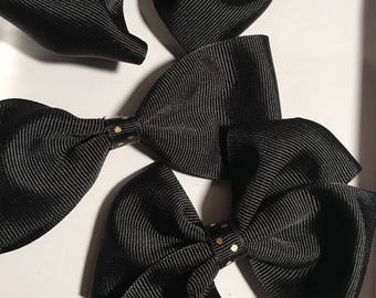 Black and Gold 4 Piece Hair Bow Set