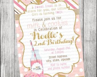 Milk and Cookies Invitation